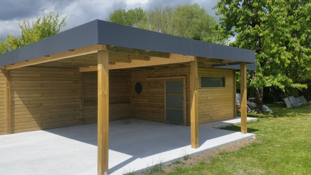 Carport bois et abri jardin bois secteur villeneuve d 39 ascq for Garage 2 places