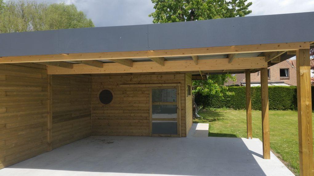 Carport bois et abri jardin bois secteur villeneuve d 39 ascq for Abris de jardin ral 7016
