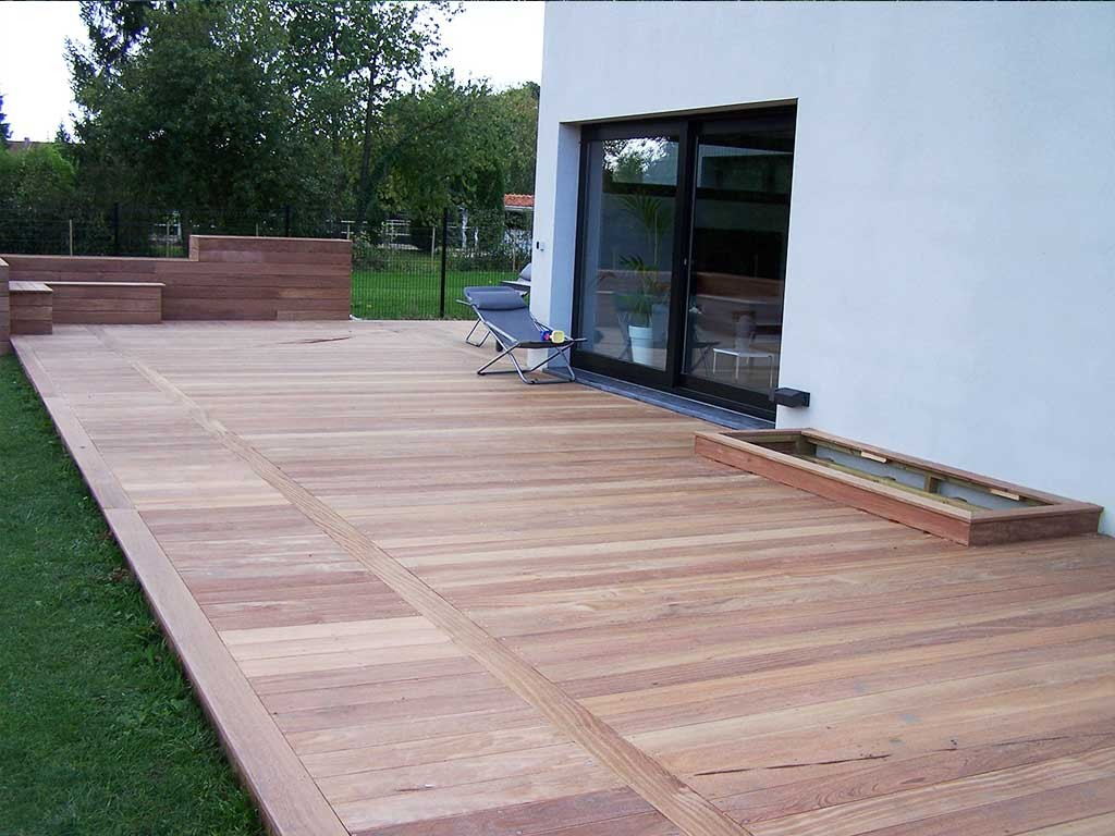 Cr ation terrasse bois lille en ip 59 wood for Conception de jardin terrasse