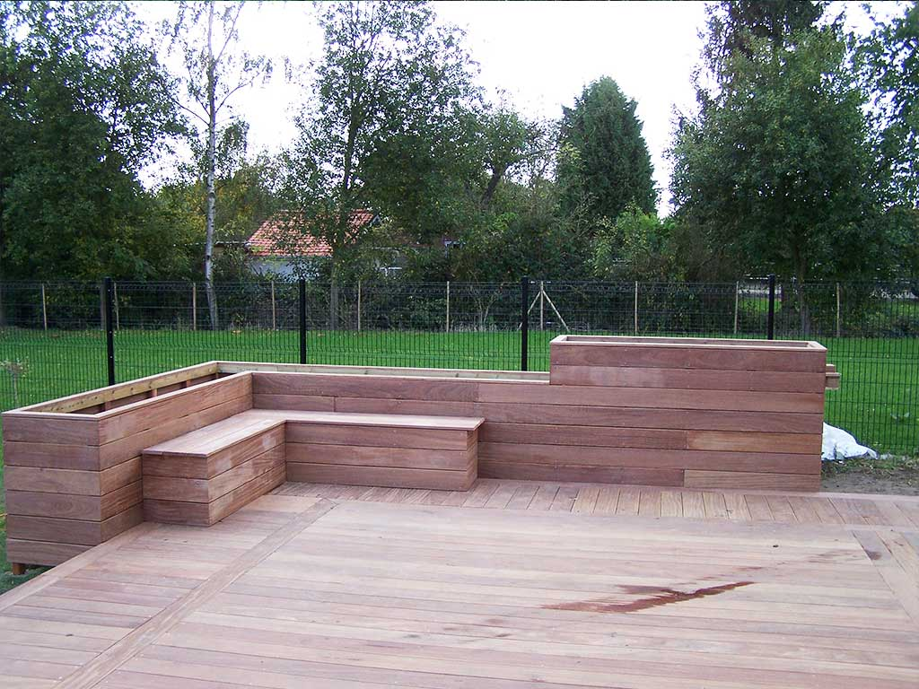 Cr ation terrasse bois lille en ip 59 wood for Amenagement jardin avec terrasse bois