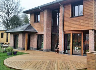 Terrasse en bois exotique pour le jardin Wood Conception