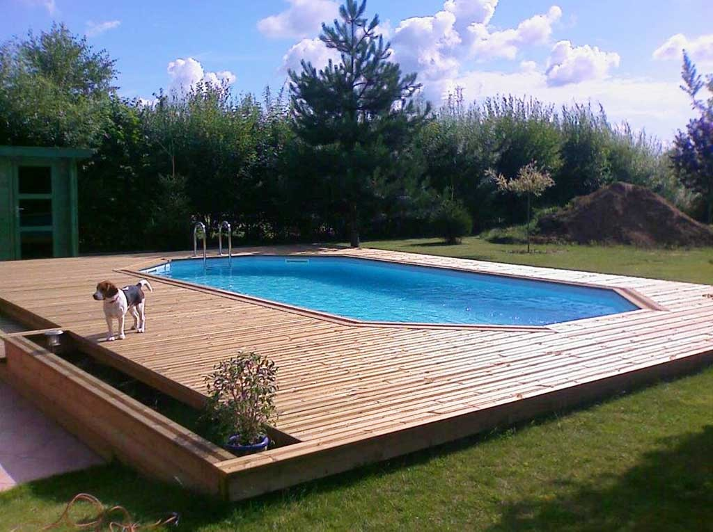terrasse avec piscine tilloy lez marchiennes wood. Black Bedroom Furniture Sets. Home Design Ideas