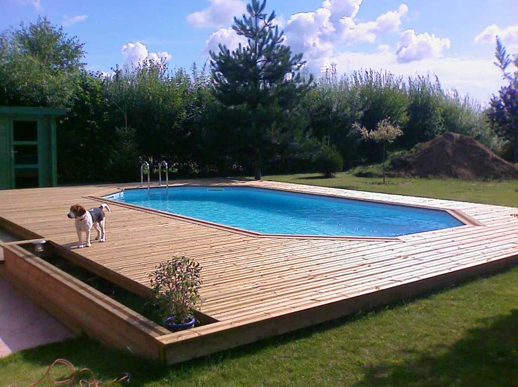 Terrasse avec piscine tilloy lez marchiennes wood Conception piscine