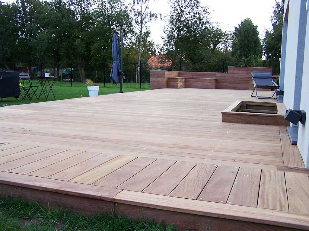 Constructeur de terrasse en bois orchies lille wood for Conception de jardin terrasse