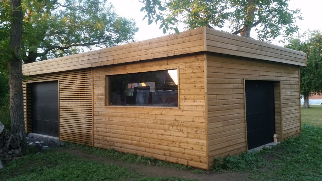 Garage ossature bois sur lille orchies 59 wood for Garage en bois en solde
