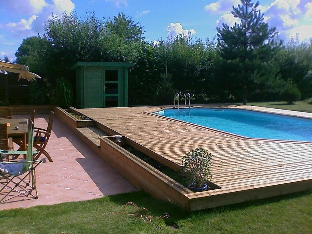 R alisation terrasse bois exotique r gion lille for Piscine orchies