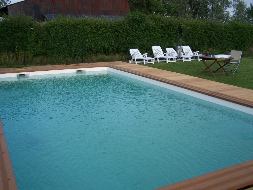 Terrasse en bois exotique bouvignies orchies r gion for Piscine orchies