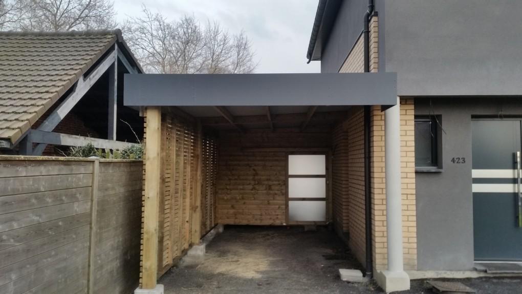 carport avec abri de jardin secteur orchies lille 59 wood conception. Black Bedroom Furniture Sets. Home Design Ideas