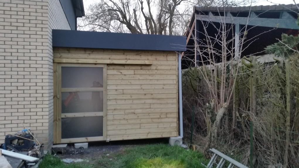 Carport avec abri de jardin secteur orchies lille 59 wood conception - Abris de jardin loi lille ...