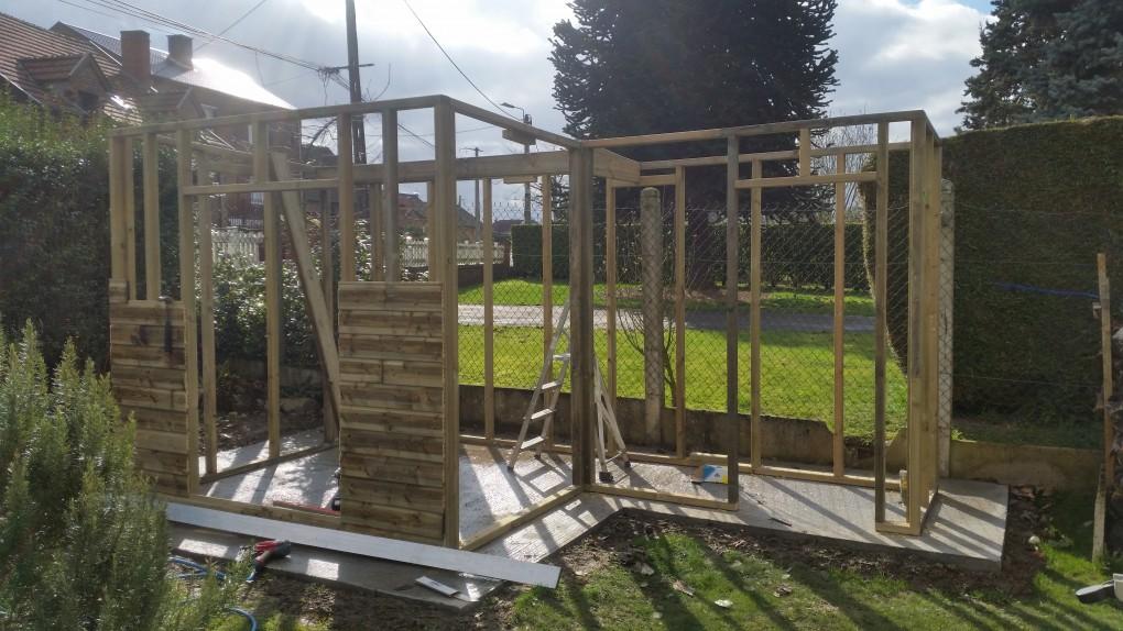 Abri de jardin en bois toit plat valenciennes lillewood conception - Abris de jardin loi lille ...
