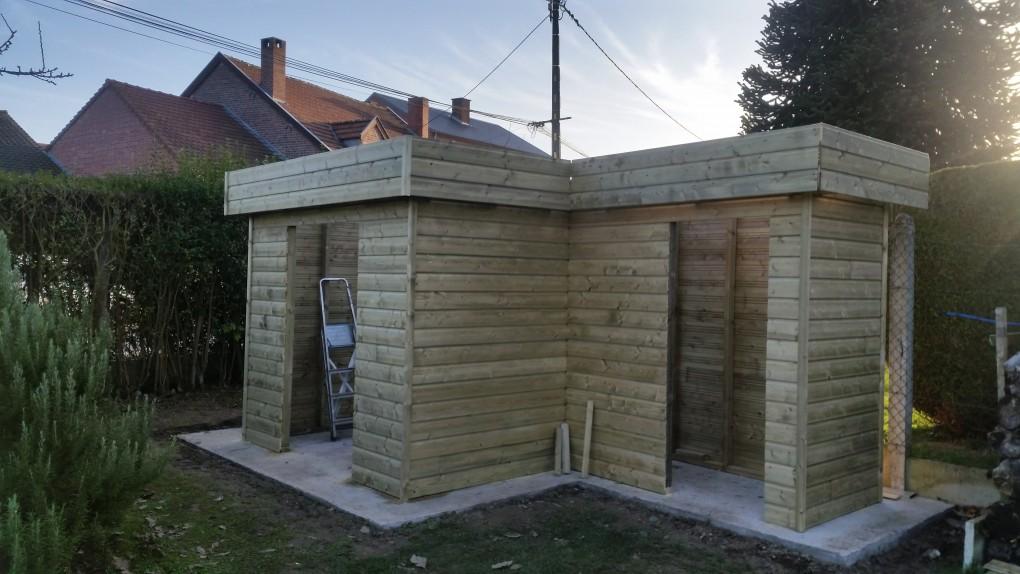abri de jardin en bois toit plat valenciennes lillewood conception. Black Bedroom Furniture Sets. Home Design Ideas
