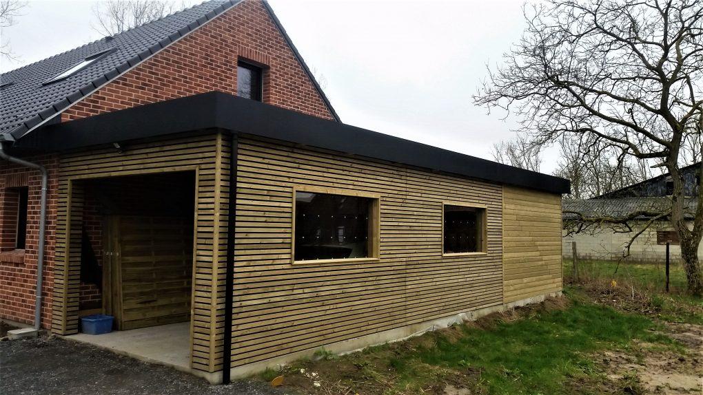 Carport garage bois et abri de jardin sur coutiches for Abri garage jardin