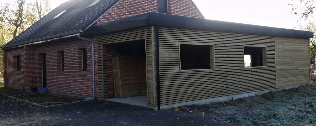 Carport garage bois et abri de jardin sur coutiches faumont lille wood conception - Abris de jardin loi lille ...