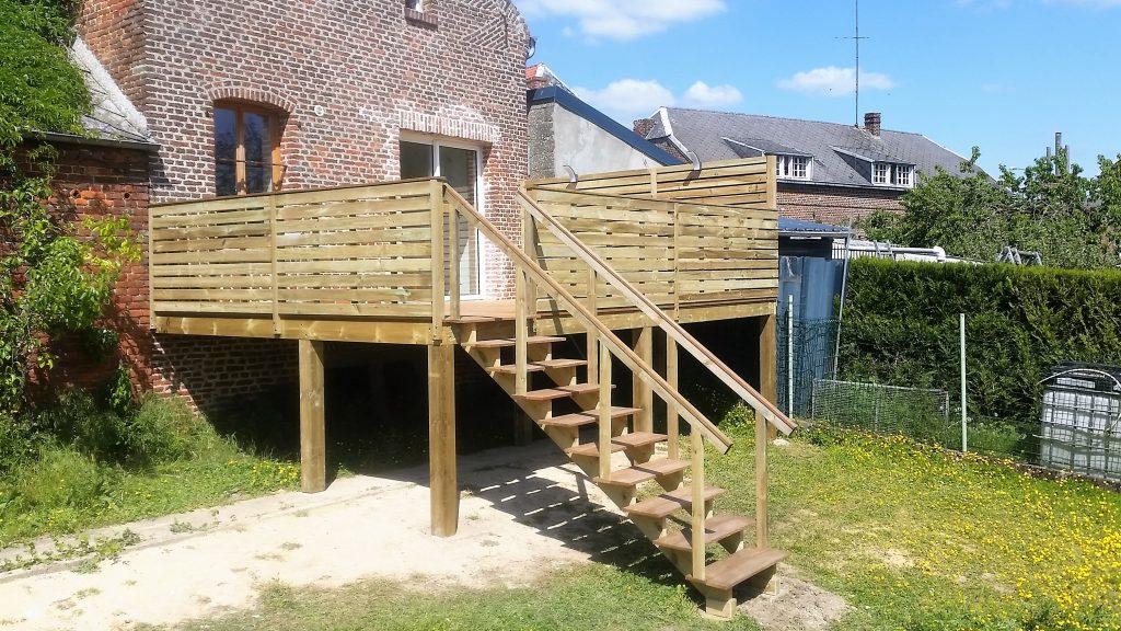 Terrasse Bois Sur Pilotis A Baisieux Camphin Lille Nord