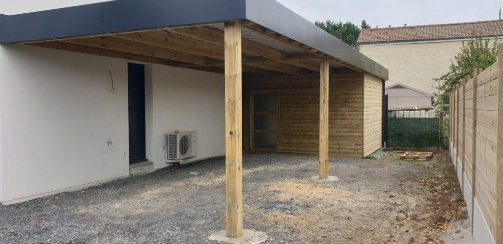 Carport bois à Hénin-Beaumont (Douai-Lille-Lens) 59/62
